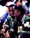 Dee Brown och Ed Pinckney, Boston Celtics Arkivfoto