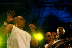 Dee Dee Bridgewater, en Irvin Mayfield Royalty-vrije Stock Foto's