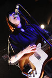 Dee Dee Penny, singer of Dum Dum Girls band Royalty Free Stock Image