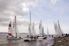 Dee Sailing Club royalty-vrije stock afbeeldingen