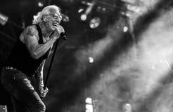 Dee Snider vivent de concert 2017 Images libres de droits
