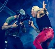 Dee Snider vivent de concert 2017 Photos stock