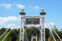 Dee Suspension Bridge, Chester. Royalty Free Stock Photography