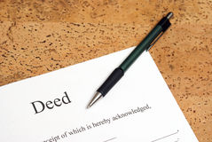 Deed Royalty Free Stock Image