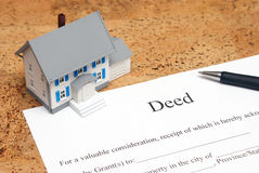 Deed to a House Stock Photography