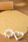 Deeg voor de koekjes van Kerstmis royalty-vrije stock foto