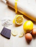 Deegrol, Citroen & Chocoladeverticaal Stock Fotografie