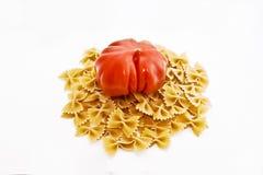 Deegwaren & tomaat Royalty-vrije Stock Foto