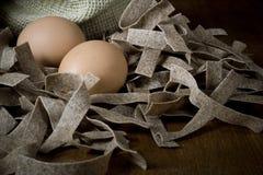 Deegwaren en eieren Stock Foto