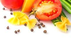 Deegwaren en groente royalty-vrije stock foto