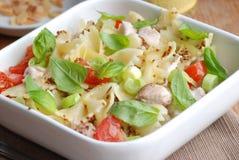 Deegwaren en plantaardige salade Royalty-vrije Stock Afbeelding