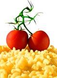 Deegwaren en tomaat royalty-vrije stock afbeeldingen