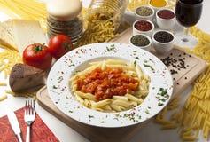 Deegwaren en tomaat Royalty-vrije Stock Foto