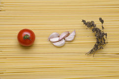 Deegwaren en tomaat Royalty-vrije Stock Afbeelding