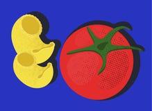 Deegwaren en tomaat Royalty-vrije Stock Foto's