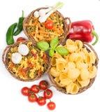 Deegwaren en verse groenten royalty-vrije stock foto