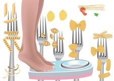 Deegwaren gebaseerd dieet royalty-vrije illustratie