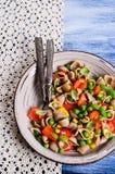 Deegwaren met groenten Royalty-vrije Stock Foto's