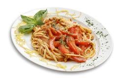 Deegwaren met tomaat Royalty-vrije Stock Foto's