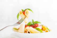 Deegwaren met tomatensaus Royalty-vrije Stock Afbeelding
