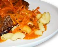 Deegwaren met vlees Royalty-vrije Stock Foto