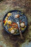 Deegwaren met vleesballetjes Stock Fotografie