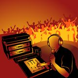 Deejay 01. Coloured vector illustration Stock Photography