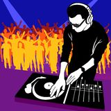 Deejay 03. Coloured vector illustration Stock Photography