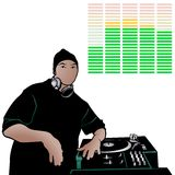 Deejay 04 royalty free illustration