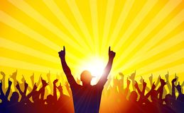Deejay and Concert Party-Vector Royalty Free Stock Photography