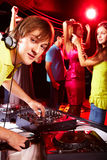 Deejay at work Royalty Free Stock Photography