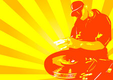 Deejay yellow. Abstract vector of a deejay in action Stock Photo