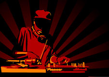 Deejay3. Abstract illustration of a deejay Royalty Free Stock Photos