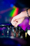 Deejays hand Royalty Free Stock Photography