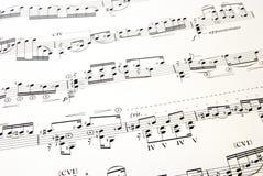 Deel 2 van de muziek Stock Afbeelding