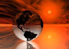 Deel 4 van de Aarde van Pixelized Royalty-vrije Stock Afbeelding