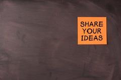 Deel uw ideeën stock foto