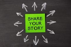 Deel uw verhaal stock fotografie