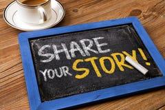 Deel uw verhaal royalty-vrije stock afbeeldingen