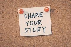 Deel uw verhaal Royalty-vrije Stock Foto
