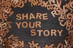 Deel uw verhaal Stock Foto