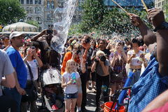 Deel 3 50 van de bellenslag NYC 2015 Royalty-vrije Stock Foto's