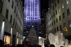 Deel 2 30 van 2015 Fifth Avenue -Vakantievensters Stock Afbeelding