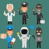 Deel 8 van karakters Verschillend Beroepen Stock Foto