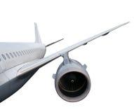 Deel van vliegtuig op witte achtergrond wordt een geïsoleerd die royalty-vrije stock afbeelding