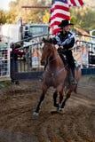 Deelnemer bij de rodeo Willits Stock Fotografie