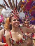 Deelnemer in Kopenhagen Carnaval 2012 royalty-vrije stock foto