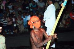 Deelnemer van het festival Pera Hera in Kandy Stock Afbeeldingen