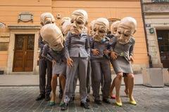 Deelnemers bij het jaarlijks (9-12 Juli) 28ste Internationale Festival van Straattheaters Royalty-vrije Stock Foto