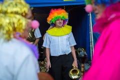 Deelnemers bij het 28ste Internationale Festival van Straattheaters Stock Foto's